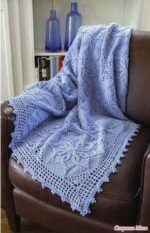 Patrón #1516: Manta a Crochet