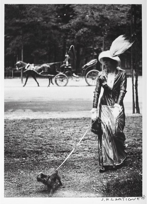 Mary Lencret, A Well-Known Demi-Mondaine, Walking Her Griff In Paris c. 1906 #swag