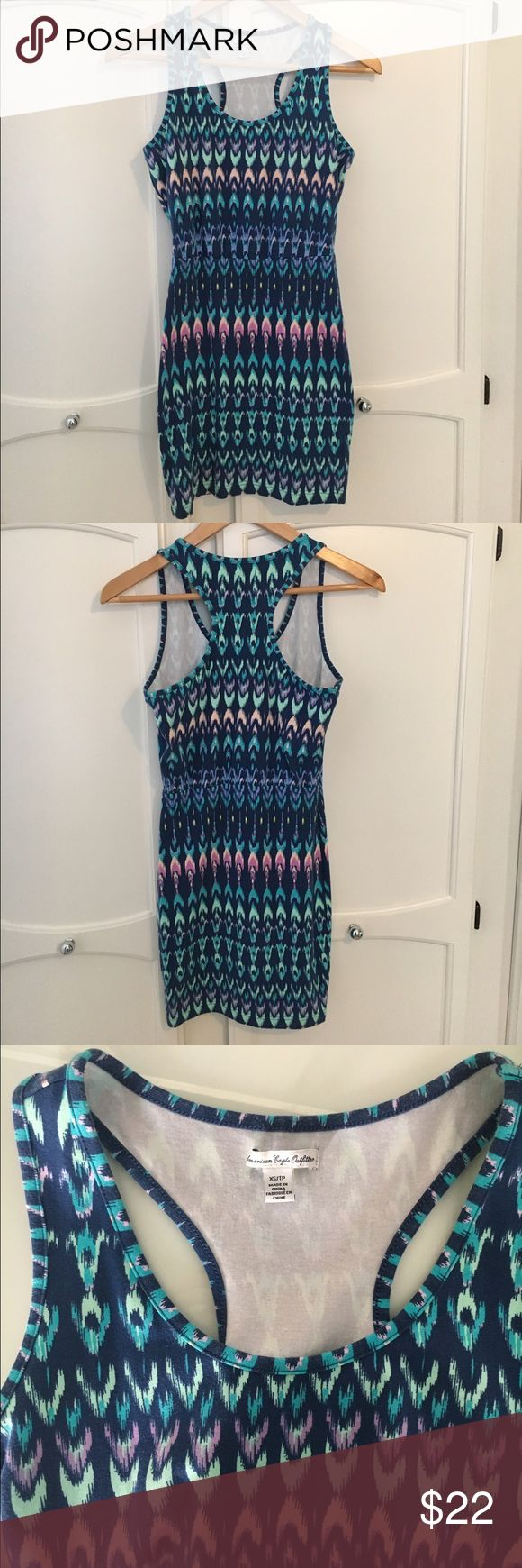 American Eagle Bodycon Dress Cute, comfy, multi-colored bodycon dress. Never worn! Feel free to make an offer! American Eagle Outfitters Dresses