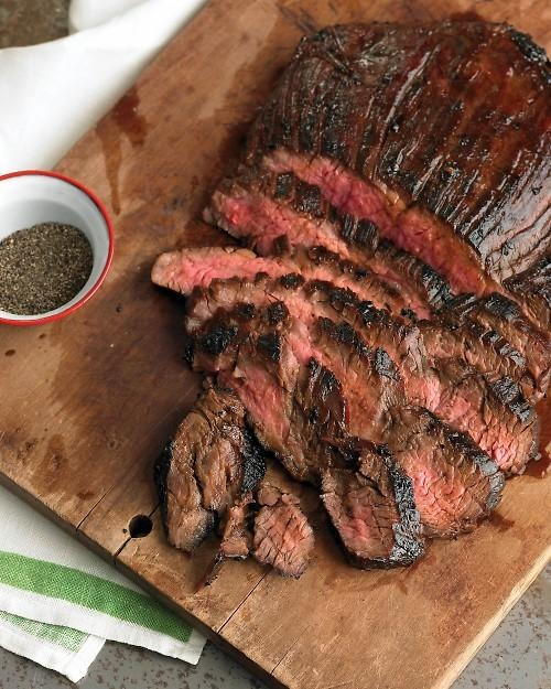 Soy-Marinated Flank Steak Recipe- sub coconut amines for soy and applesauce for brown sugar- omit Worcestershire