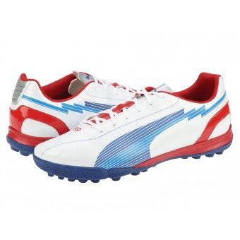 Ghete fotbal barbati Puma Evospeed 5 TT white-limoges-ribbon red