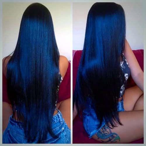 Veja a seleção com 30 lindos cabelos pretos azulados e descubra como combinar e conseguir essa tonalidade que é um arraso! http://salaovirtual.org/cabelo-preto-azulado/ #coresdecabelo #pretoazulado #salaovirtual