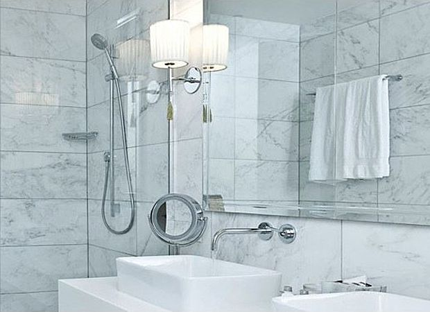 18 best master bath images on pinterest bathrooms for White carrara marble bathroom ideas