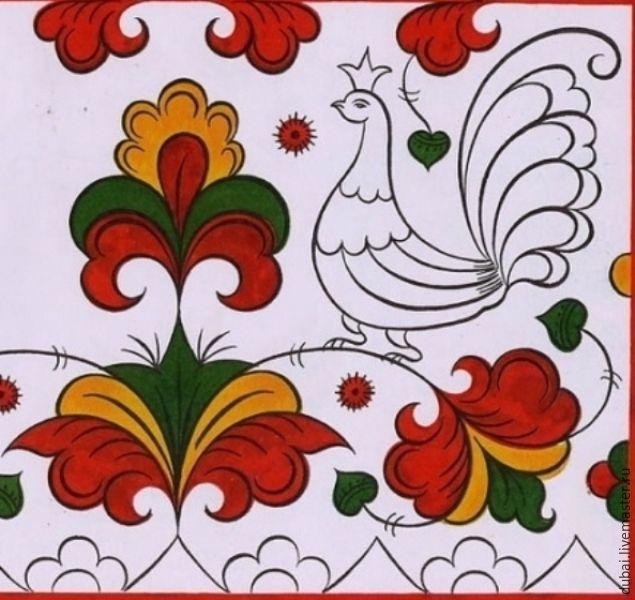 Мастер-класс: Пермогорская роспись тарелки - Ярмарка Мастеров - ручная работа, handmade