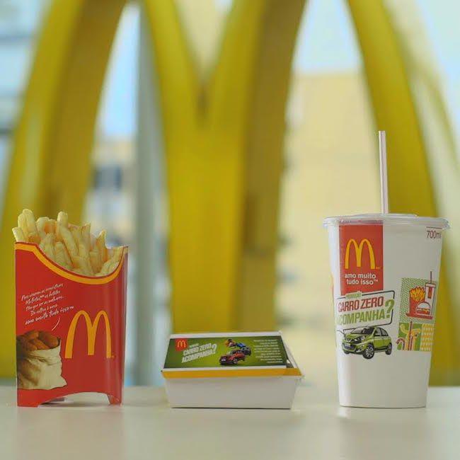 McDonald's transforma embalagens em carros