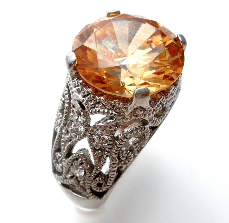 Jubilee Espo Citrine CZ Ring Sterling Silver