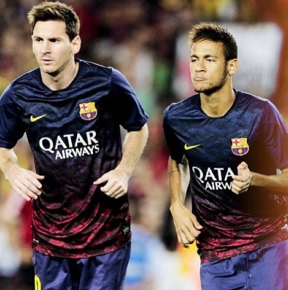 Messi and Neymar FC Barcelona