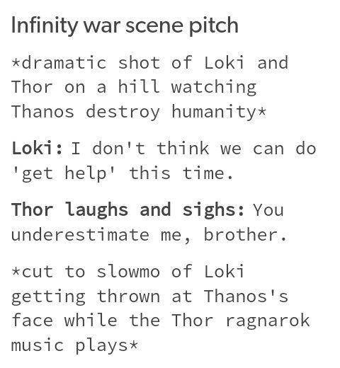 Infinity war, loki, thor, marvel, mcu