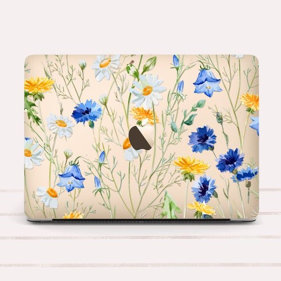 Floral Flowers Art Protect Cover Case Laptop Macbook Pro Retina Air 11 12 13 15
