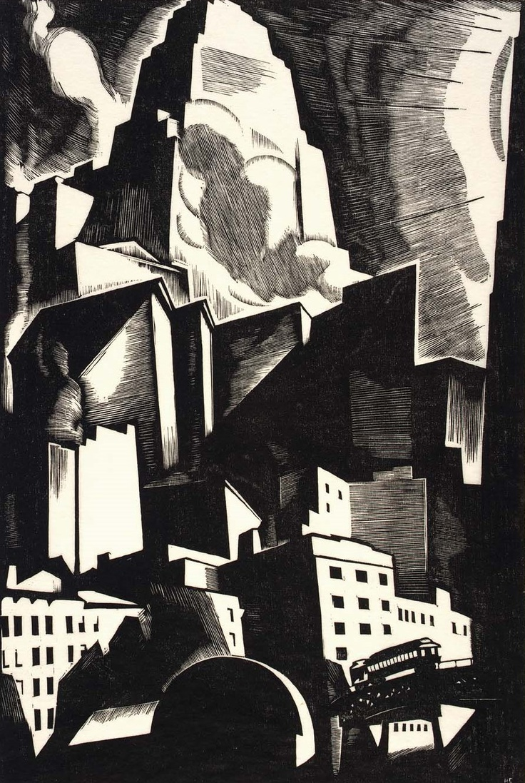 Cook, Howard Norton - The Dictator - Taos Art Colony - Cityscape - Engraving