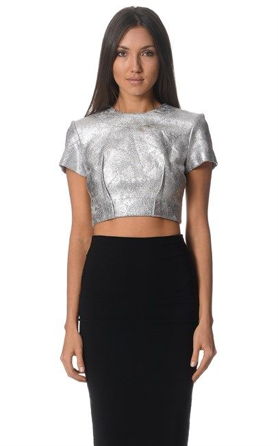 Super chick Silver Denin Knit Crop Top by Alex Perry! Price for this amazing top was $500 and is now down to $100. We love it!