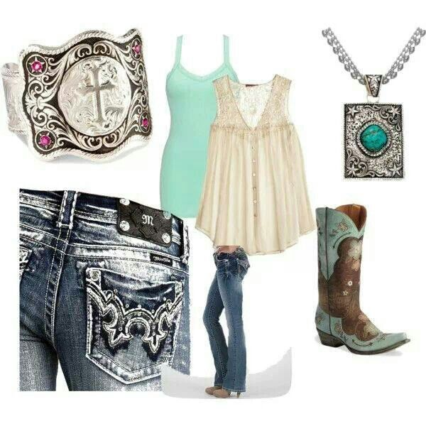Cute country girl outfit. I'm definitely not a country girl, but I do need an outfit to wear to my country concerts ;)