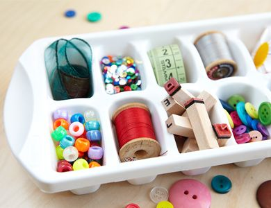 New Uses for Ice Cube Trays - Organize Craft Supplies