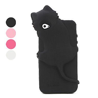 kiki kat stijl beschermende behuizing van polycarbonaat voor iPhone 4s (verschillende kleuren)