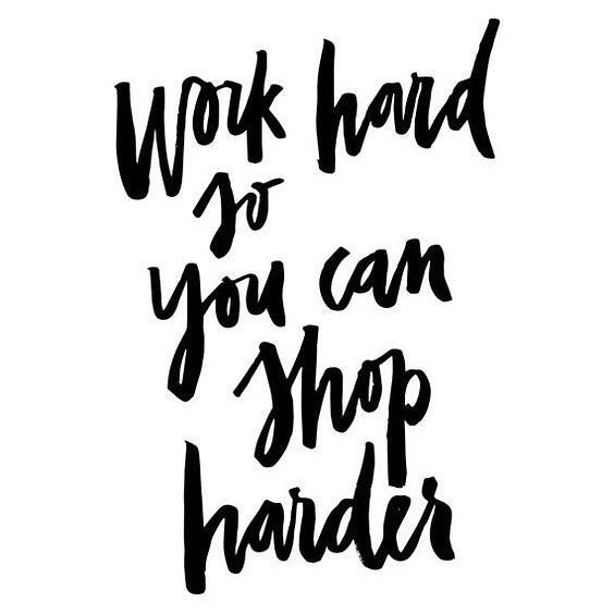 online shopping is our #motivationmonday 💳