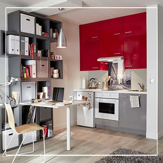 Dans une cuisine spicy les portes de couleur rouge for Couleur dans une cuisine avignon