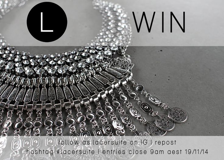 WIN! head over to our IG account and follow as.lacersuite, hashtag #lacersuite & repost to win a handcrafted piece from the collection!