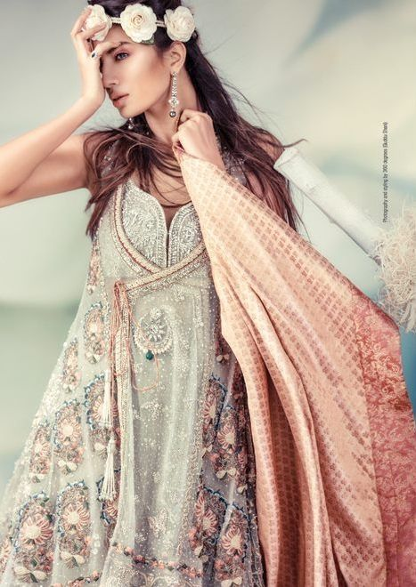 Pakistani fashion, floral inspired