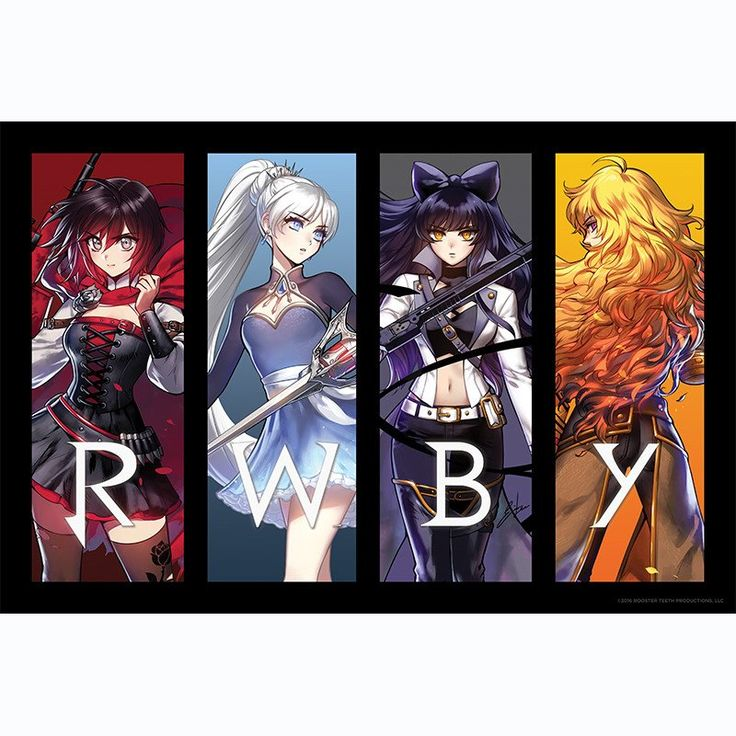 RWBY Volume 4 Retro Reveal Poster – Rooster Teeth Store
