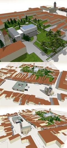 Liptovsky Mikulas, old town centre, architectural study by Artlandia