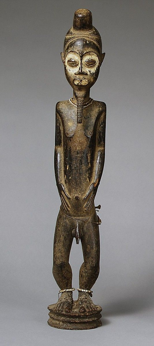 Male Diviner's Figure Date: 19th–mid-20th century Geography: Côte d'Ivoire, central Côte d'Ivoire Culture: Baule peoples Medium: Wood, pigme...