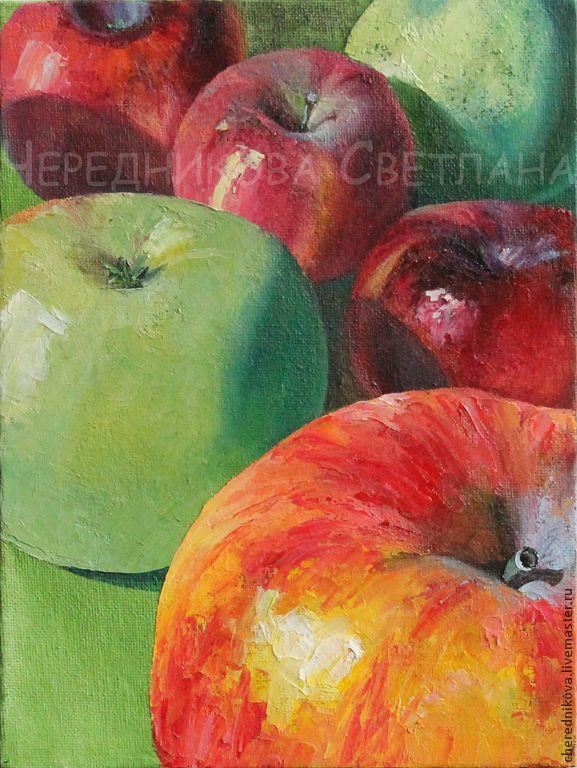 Яблочки (часть I) - желтый,красный,белый,яблоки,сочный,вкусный,натюрморт