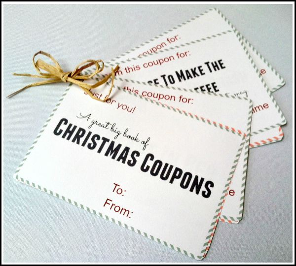 #Free Printable #Christmas Coupon Book for kids to give parents, spouses to each other, etc.