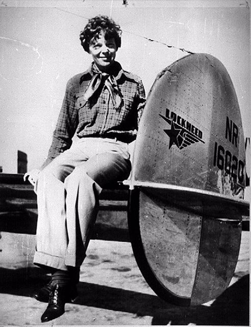 Amelia Earhart: The most famous woman pilot of her era, she was a promoter of women's careers in aviation and one of the founders of the Ninety-Nines, the first professional organization of women pilots. Her disappearance in 1937 during an around-the-world flight attempt sent shockwaves through the aviation community. Speculation about what happened to her is widespread nearly three quarters of a century later.