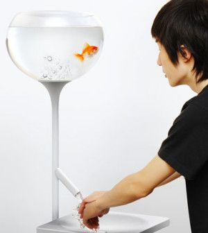 Poor Little Fish | Yan designed a sink that emotionally helps tick the consumption trigger in a tangible way. Wash your hands for a long time, and fishy fish will say bye, bye!