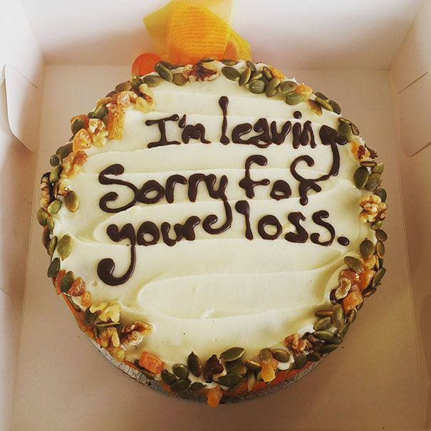 Got A New Job Last Week. This Is The Leaving Cake I Made For The Office On My Last Day