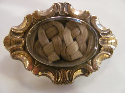 Antique Victorian Mourning Hair Brooch Circa 1850