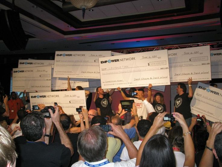 See our Income Disclaimer:  http://www.empowernetwork.com/income The Empower Network live event in Atlanta, GA.  Affiliate contest winners on stage with their giant checks.    I did get one of those giant checks but I didn't attend so I never got it. For the following live event in San Diego... they mailed it to me.  I just don't know what to do with it.  What?  Tack it up on my living room wall?  That's a bit off-putting for guests don't you think?  lol