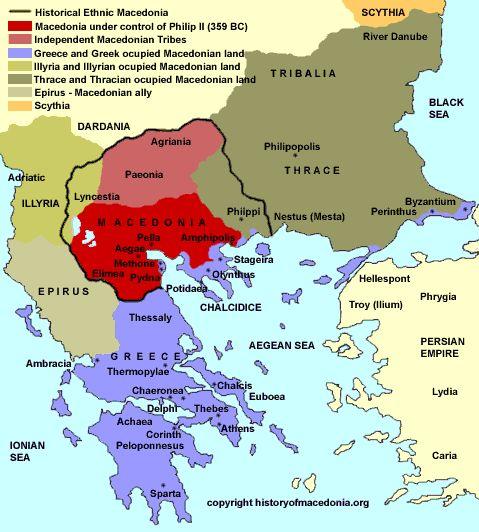 O Reino de Macedônia (em grego Μακεδονία, Makedonia) foi um estado da Antiguidade no norte da atual Grécia, margeado pelo Reino do Épiro no...