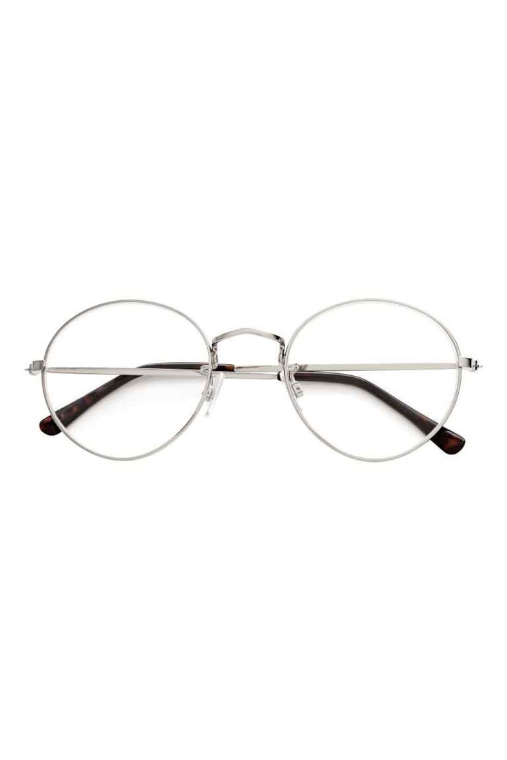 Reading glasses: Round reading glasses with metal frames.