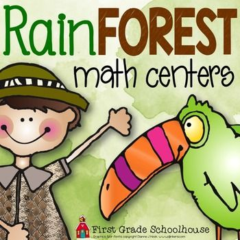 Rainforest Math Centers is a packet of 8 rainforest and rainforest animals themed math centers. The centers can be used as part of a study of the rainforest, environmental study, or to celebrate Earth Day. You can use the activities whole class, with small guided groups, or use the center activities as independent math practice at a thematic math center.