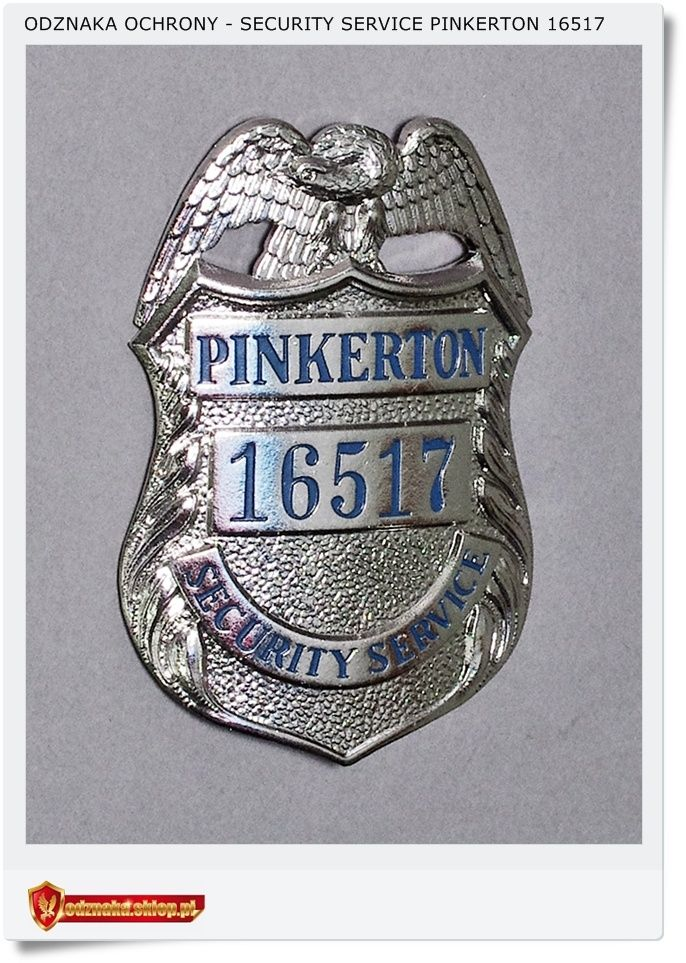 USA detektyw Odznaka oficera Security Service PINKERTON 16517