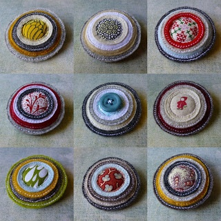 eclectic me blog: Felt & Fabric Brooches