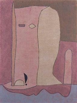 PAUL KLEE (1879-1940)   Gartenfigur   signé 'Klee' (en haut à droite)   huile sur toile   81.5 x 61.3 cm. (32 1/8 x 24¼ in.)   Peint en 1932