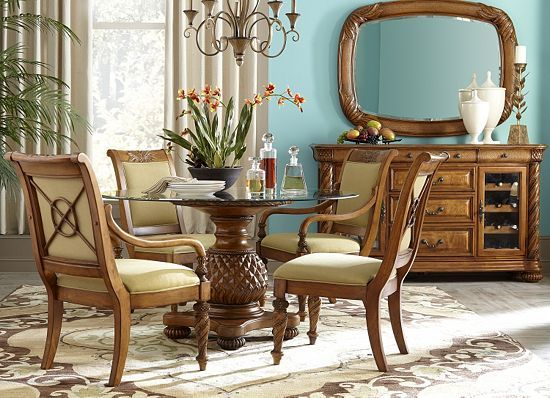 Host Your Guests In Tropical High Style With This Havertys Grand Cayman Dining Table
