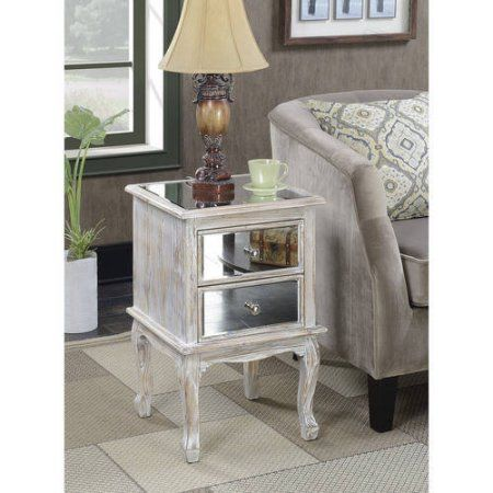 25 Best Ideas About Mirrored End Table On Pinterest