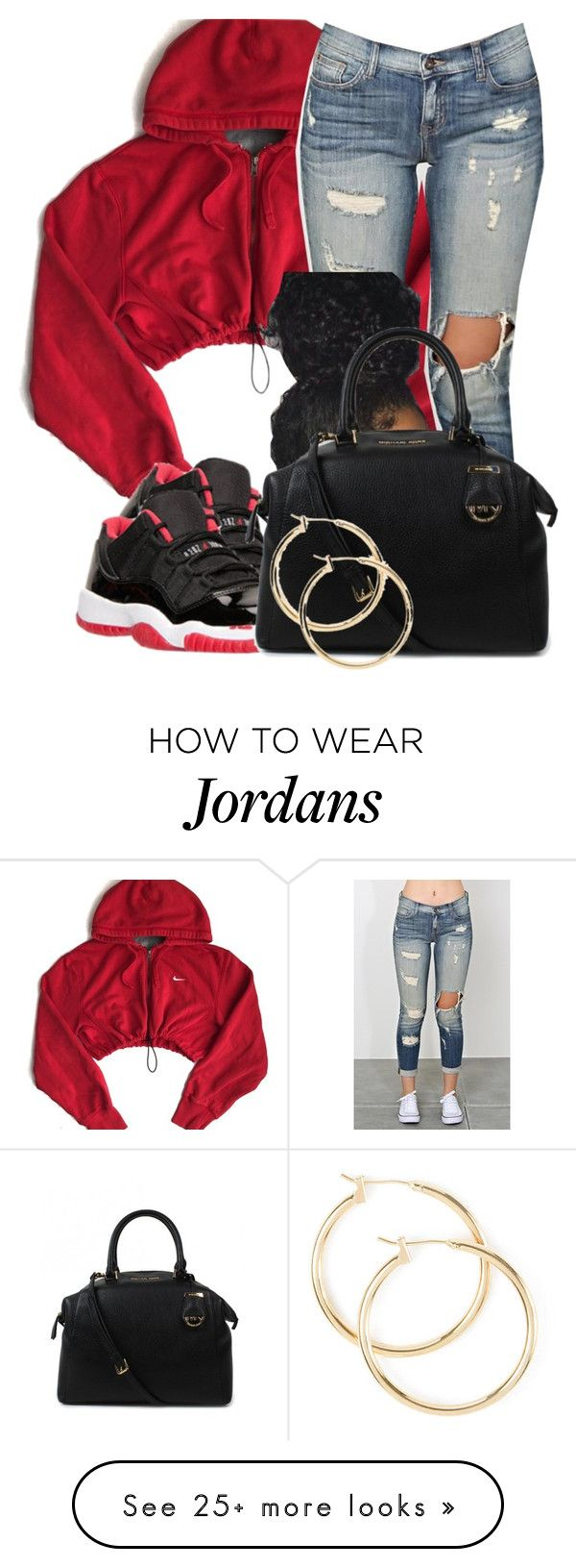 """Untitled #145"" by jaziscomplex on Polyvore featuring NIKE, Retrò, Michael Kors, women's clothing, women's fashion, women, female, woman, misses and juniors"
