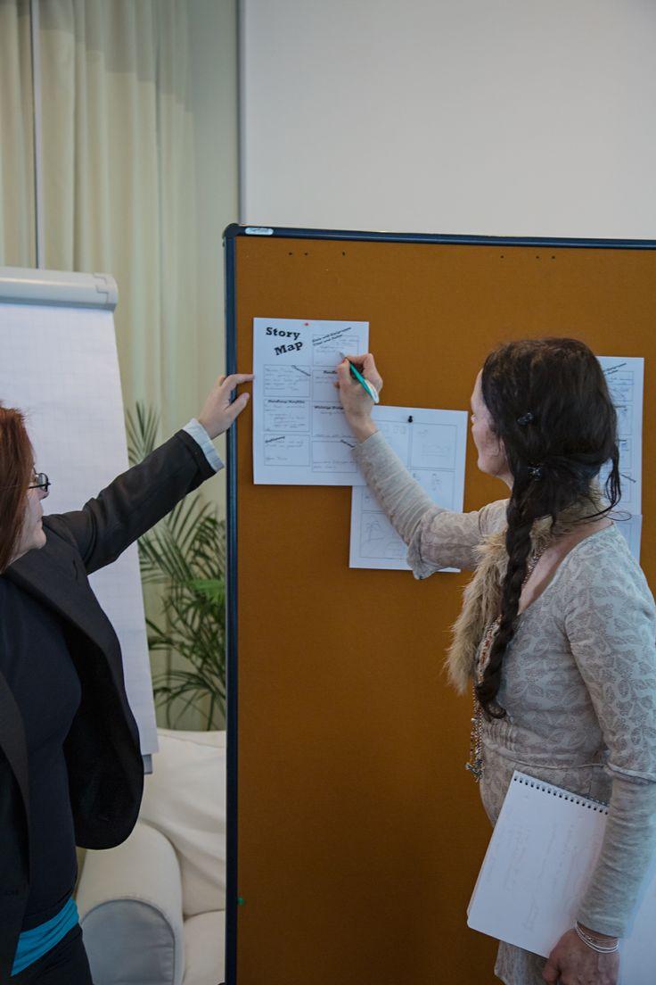 Besprechung einer #Storymap #Storytelling #Workshop #Storymap #7pointstory