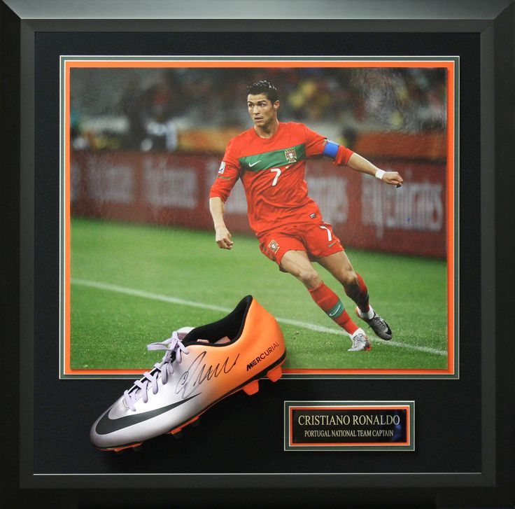 Signature Royale - Cristiano Ronaldo Signed Nike Mecurial Cleat Display., $1,342.95 (http://www.signatureroyale.com/cristiano-ronaldo-signed-nike-mecurial-cleat-display/)