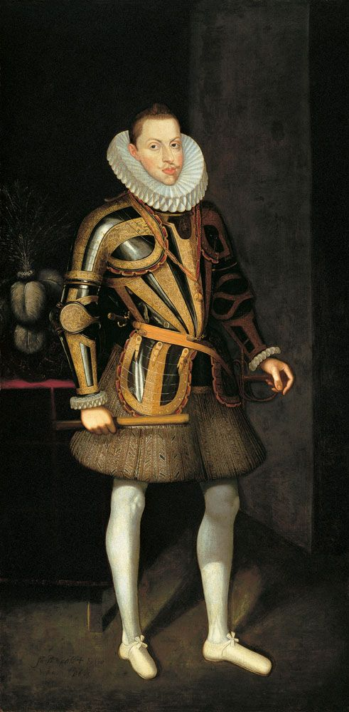 Philip III of Spain (Spanish: Felipe III; 14 April 1578 – 31 March 1621) was King of Spain (as Philip III in Castille and Philip II in Aragon) and Portugal..