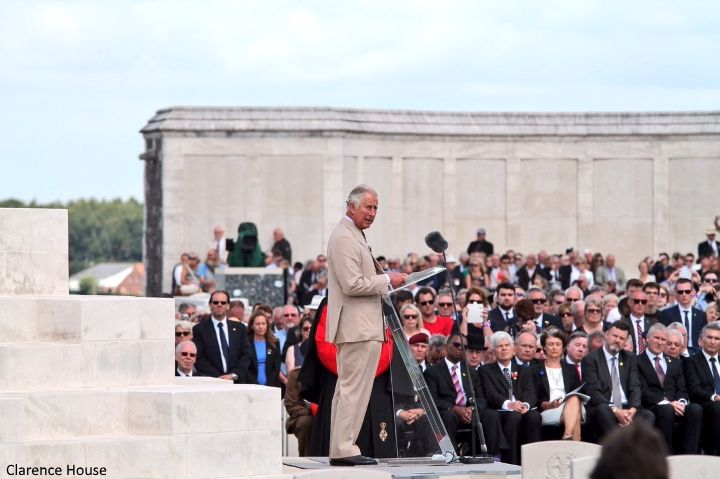 hrhduchesskate: Centenary of Passchendaele, Third Battle of Ypres, July 31, 2017-The Prince of Wales gave a speech during which he quoted his great-grandfather King George V