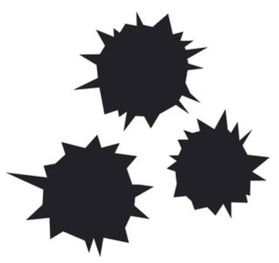 Vinyl Decals Gun  Bullet Holes Sticker Car Wall  Design Window Art Laptop Decor