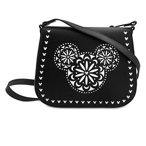 Mickey Mouse Icon Laser Cut Crossbody Bag by Vera Bradley - Black