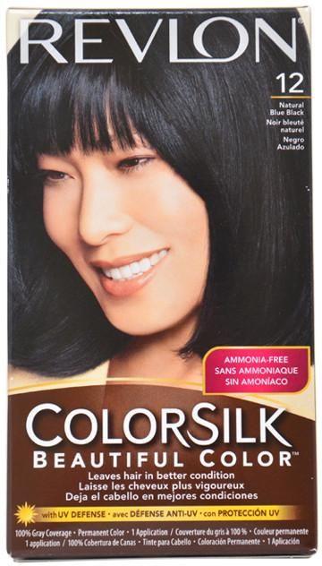 Unisex Revlon colorsilk Beautiful Color #12 Natural Blue Black Hair Color