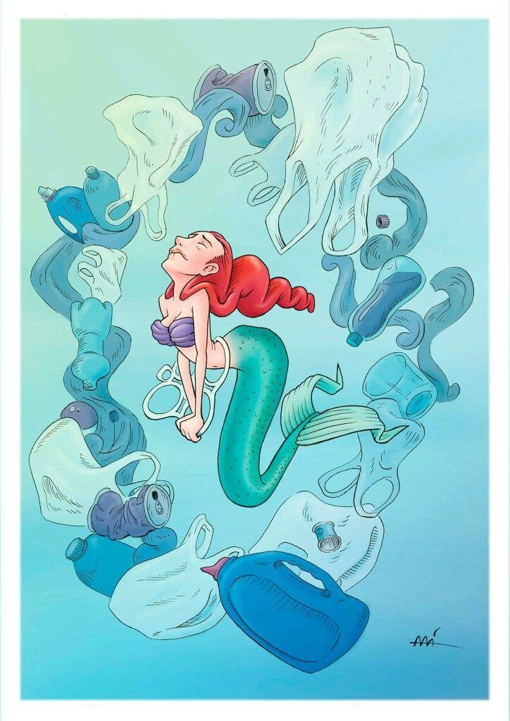 Save the mermaids by Ali del Rey Ilustra #alidelreyilustra #savethemermaids