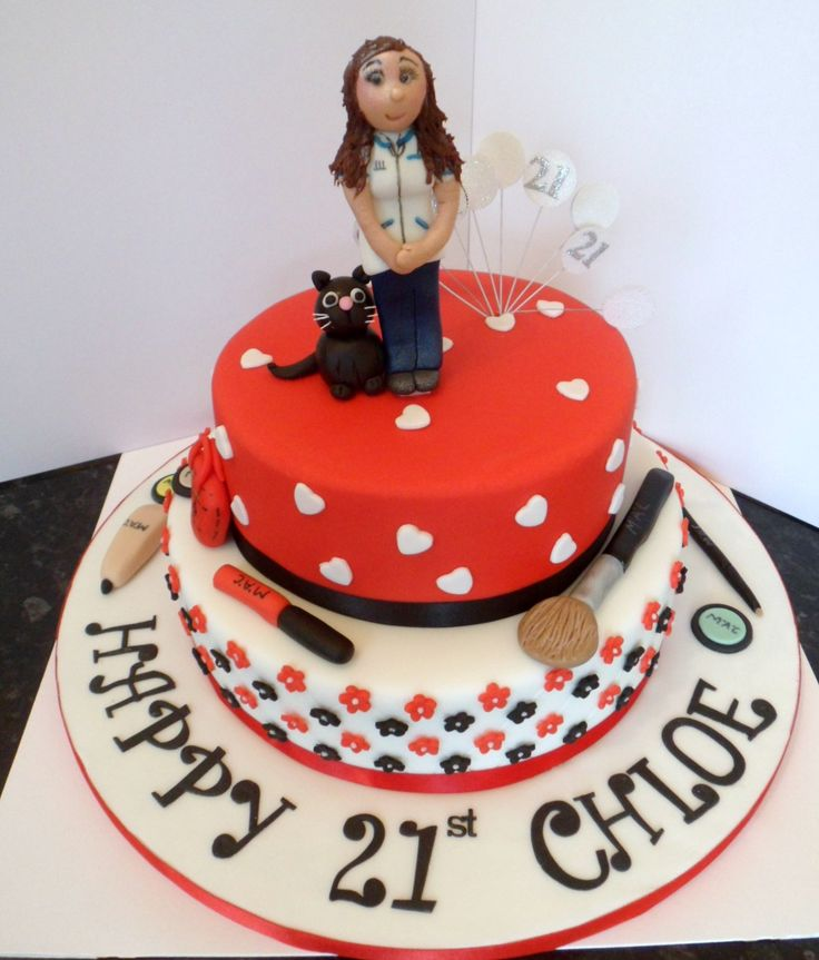 Best Thst Birthday Cakes For Girls Images On Pinterest - 21st birthday cakes for her